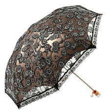 High Quality Ladies Umbrella Lace Parasol Folding Umbrella Sun Shade Anti-UV