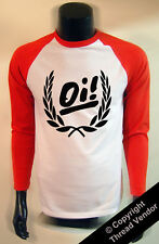 punk rock T-SHIRT Oi! long sleeved baseball retro skins oi - skinheads 70's 80's