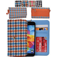Kroo Woman-s Houndstooth Patterned Wallet Clutch Cover ML|B fits Mobile Phone