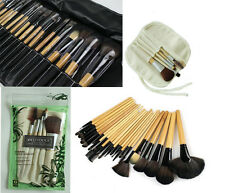 Bamboo Makeup Cosmetic Comb Brush Eyeliner Powder Eyebrow Blusher Eco Tools Set