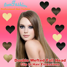 Full Head Double Wefted Clip in Hair Extensions  Remy Hair Extensions