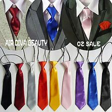 1PC Boys Kids Children String Wedding Party Satin Solid Formal Casual Neck Tie