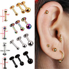 5x Tragus Helix Bar - Cartilage Top Upper Ear Earring Labret Star Heart Newly NE