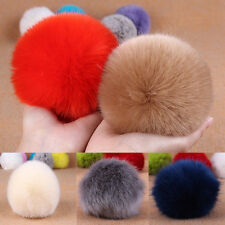 1/5pcs Soft Rabbit Fur Ball Handbag Key Chain Strap Mobile Phone Car Pendant New