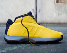 """Mens Adidas Crazy 1 Retro """"Sunshine"""" Kobe Sneakers New, Yellow SOLD OUT G98371 I"""