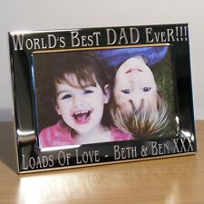 Personalised Worlds Best Dad 7x5 Photo Frame Dad, Daddy, Uncle, Grandad Gift