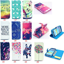 Stylish Designs Folio Wallet Leather Stand Case Cover For Samsung Galaxy Phones