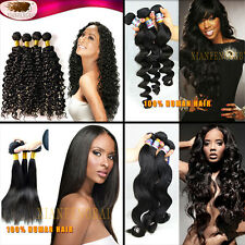 Brazilian 100% Natural Unprocessed Remy Virgin Human Hair extensions 100G 4-6A