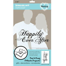 sei crafts Iron-on Art Flocked Transfers Wedding Party - 1 pc - New In Package