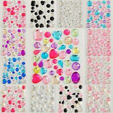 Shape Colors Self-Adhesive Rhinestones & Pearls Stick On Scrapbooking Craft Gems