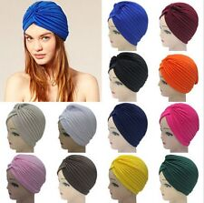 Women men Unisex Indian Style Stretchable Turban Hat Hair Head Wrap Cap Headwrap