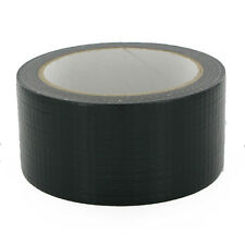 "BLACK Duck Duct Gaffa Gaffer Waterproof Cloth Tape 48mm 2"" x 50m 1 2 3 12 strong"