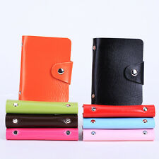 24 Pages Leatherette Pu Business ID Credit Card Holder Storage Case Wallet