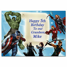 508 Avengers super hero Personalised Any age e.g. 3rd 4th 5th 6th 7th 8th 9th 10