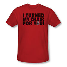 Voice Turned My Chair Adult Slim Fit T-Shirt