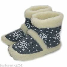 Women`s, Ladies, Mens, Winter Slippers, Pure Sheep Wool, Slipper Boots Cosy foot