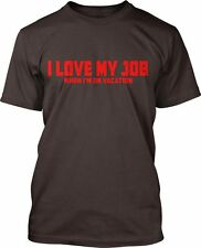 I Love My Job (Red) Fine Jersey T-Shirt