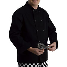 Polycotton Chefs Jacket Long Sleeves Press Studs Catering Black Kitchen Cooks