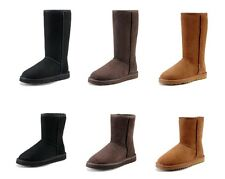 Sheepskin Womens & Childrens Kids Classic Tall Short Boots Winter Ankle Shoes