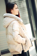 HOT!Women's Winter Thicken Hooded Jacket Coat 90% white duck Down outerwear