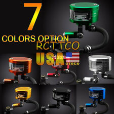 Fit For Kawasaki ZX6R/9R US Ship 7 Color Brake Reservoir Oil Fluid Cup Universal