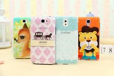 for Samsung note2&3 back case multi-color with screen protective film