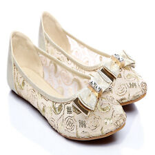 Lace Dreamy  Ballet Flats Ballerina Comfy Womens Shoes Loafer Casual slippers