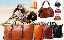 Oil Leather New Women Handbag Shoulder Bag Tote Vintage Satchel bag