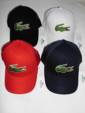 NEW 2015 MENS LACOSTE BIG CROC LOGO TRUCKER CAP HAT, PICK A COLOR, ANDY RODDICK