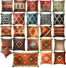 Handwoven Kilim Cushion Covers WOOL & COTTON 3 Sizes SQUARE or OBLONG 10 Designs