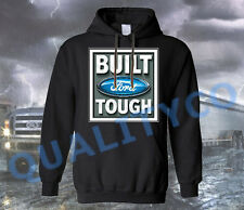 Licensed Ford Built Tough Logo Black Hoodie Sweatshirt Shelby Mustang F150 Truck