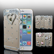 """For iPhone 6 4.7"""" / Plus 5.5"""" Bling Crystal Diamond Transparent Hard Case Cover"""