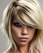 MINI SIDE SWEEPING CLIP IN ON FRINGE BANGS 100% HUMAN HAIR *FILL IN THE GAPS!