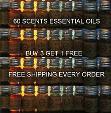 60  Essential Fragrance Oils  Diffuser  Candle Spa  5 ml  BUY 3 GET 1 FREE #K2