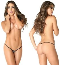 Women Naughty Mini Thong G-String Adjustable Very Low Rise Sequins Dancer Micro