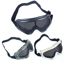 Metal Mesh Safety Net Goggles Eyes Protector Glasses for Airsoft Outdoor Sports