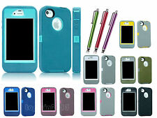 Defender ShockProof Waterproof Case Cover W/ Belt Clip For Apple iPhone 4 4S