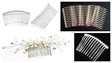 Beadable Metal Hair Combs ♥ Bridal Wedding Prom ♥ Silver Effect ♥ lady-muck1