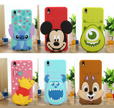 Lovely Big Head Cartoon Design Rubber Silicone Case Cover For HTC Desire 816