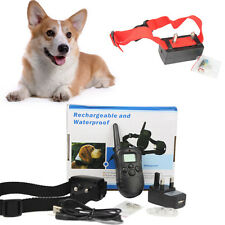 100LV Electric Dog Trainning Anti-Bark Shock Collar With Remote Controller/AUTO