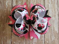 MINNIE MOUSE hair bow headband BIG Boutique Disney Hot Pink black clip Cici's