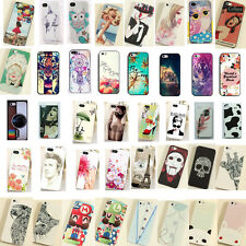 Fashion Cute Pattern Hard Skin Case Cover Back Protector For i Phone 4S 4 5S 5C