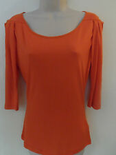 WOMANS LADIES ORANGE SHORT TUNIC TOP QUALITY ITEM-PIED A TERRE (HOUSE OF FRASER)
