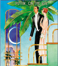 A244  Reprint of Roaring Twenties Art Deco Poster Putting on the Ritz