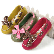 New Charming Kids Youth Girls Toddler Cute Bow Sandals Sneakers Slip On Shoes