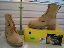 "Carolina 8"" Waterproof Insulated Plain Toe Logger Boots CA4826 - NEW IN BOX"
