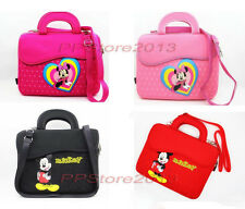 Mickey Minnie Mouse Cartoon Neoprene Sleeve Shoulder Bag Case Pouch W/Handle