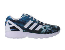 Mens Adidas ZX Flux Ocean White Dark Blue M19846