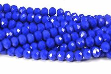 Crystal quartz, faceted rondelle, dark blue color bead, jewelry bead