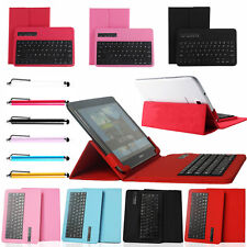Removable Bluetooth Keyboard w/ Leather Cover Case For 7''-10.1'' inch Tablet PC